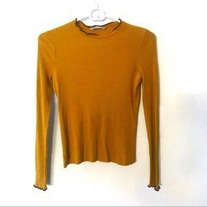 Zara mustard yellow body con top so cute!!